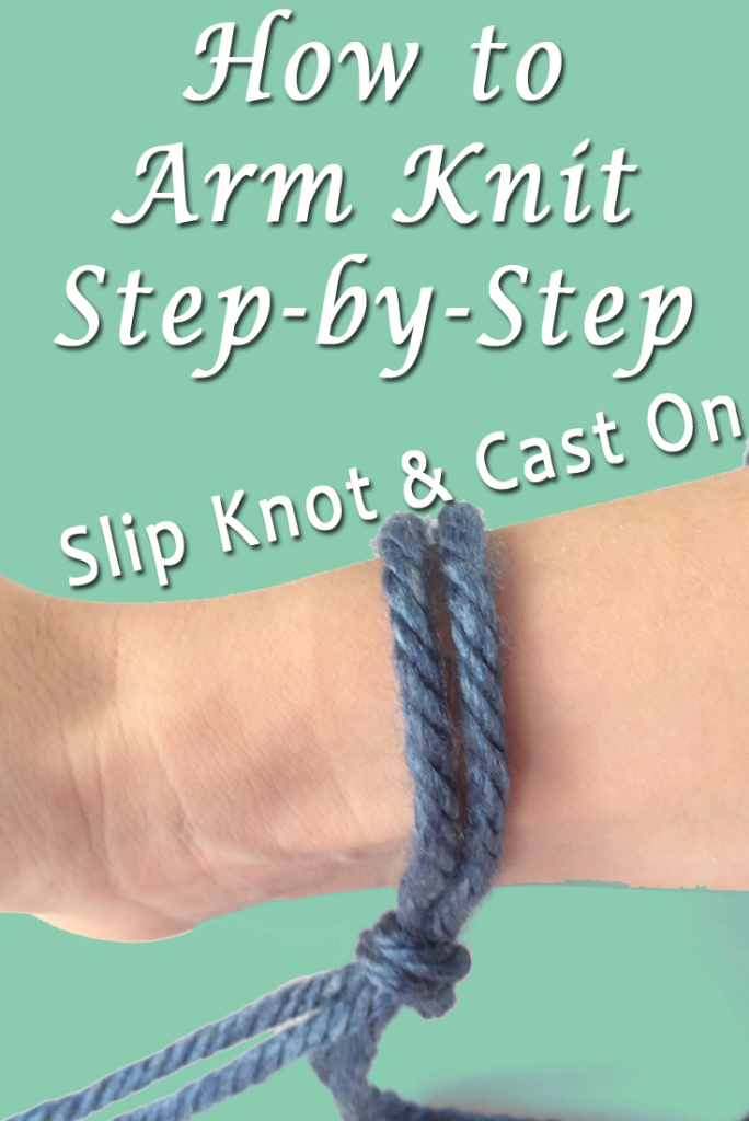 arm knitting slip knot cast on copy