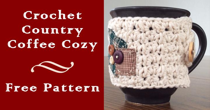 Crochet Country Coffee Cozy Free Pattern