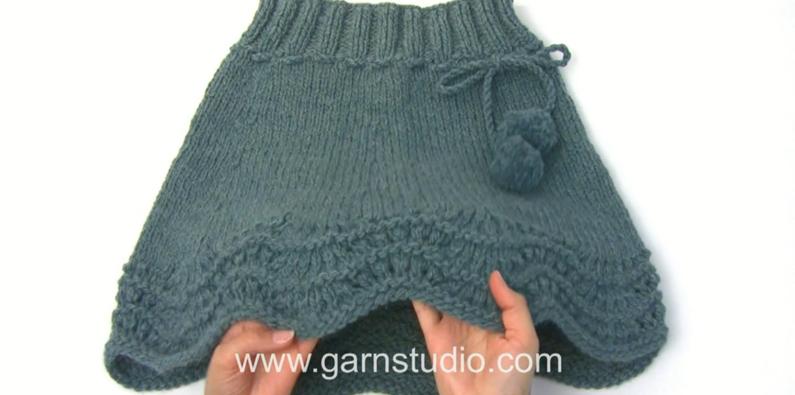 Free Knitting Pattern Sea Foam Knit Skirt
