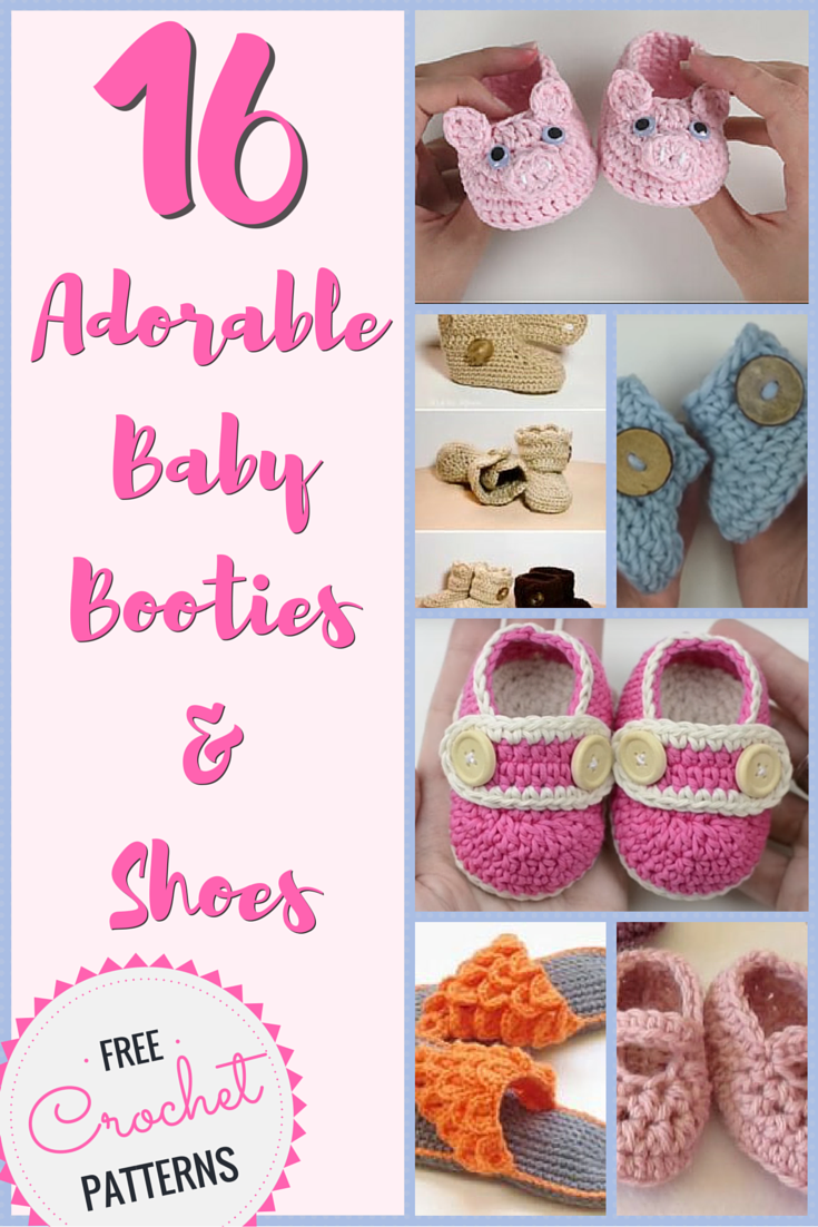 Crochet Baby Booties Patterns: 16 Adorable Free Crochet Patterns