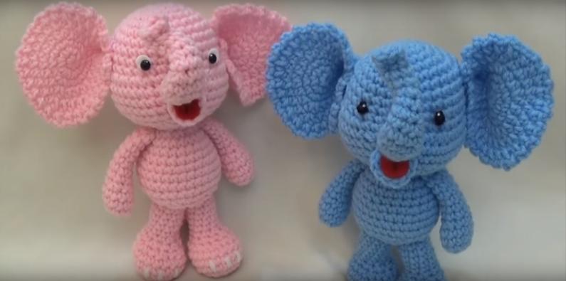 Free Amigurumi Crochet Pattern: Little Bigfoot Elephant