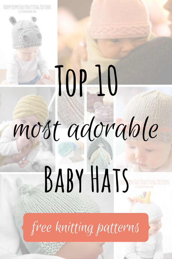 26290127772 Top 10 Most Adorable Baby Hats - FREE KNITTING PATTERNS