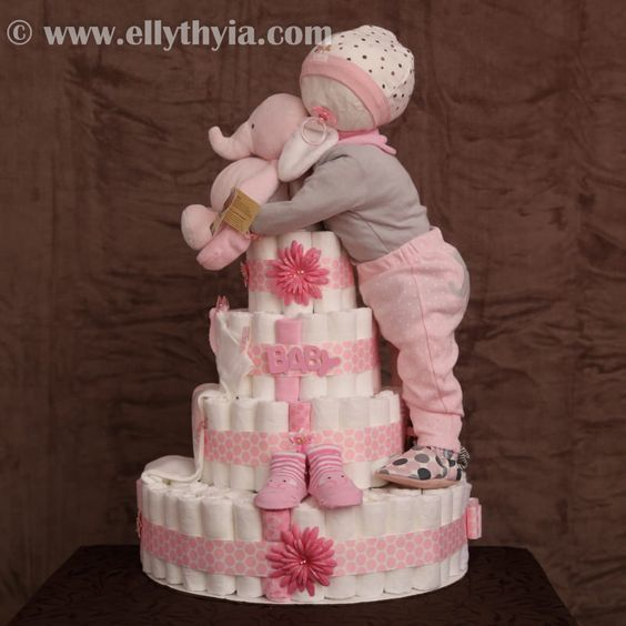 Baby Diaper Cakes For Girl