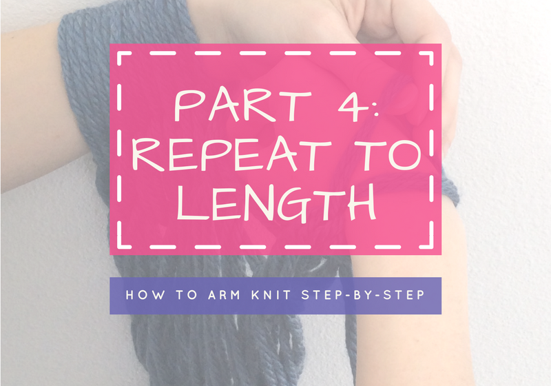 Arm Knitting Step By Step : Arm knitting tutorial nordic mart