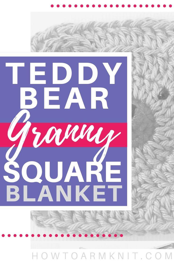 Teddy Bear Granny Squares Crochet Baby Blanket Free Pattern