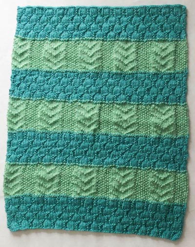 7 Adorable Striped Knitted Baby Blanket Free Patterns ...