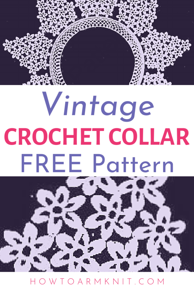 Vintage Floral Crochet Collar {Free Pattern} | Happiness is Handmade